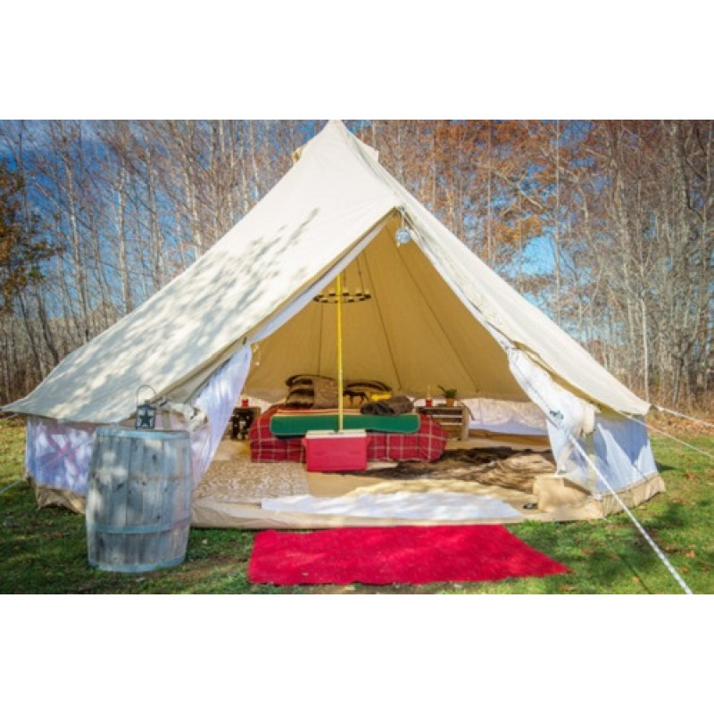 Double Door Cotton Canvas Bell Tents